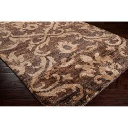 Hand-woven Gray Bayou Natural Fiber Hemp Rug (3'3 x 5'3)