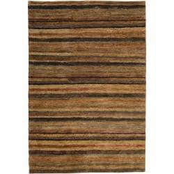 Hand-woven Tan Axis Natural Fiber Hemp Rug (3'3 x 5'3)