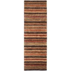 Hand-woven Tan Axis Natural Fiber Hemp Rug (2'6 x 8')