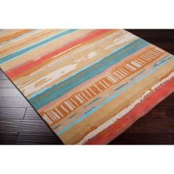 Hand-tufted Orange Keen New Zealand Wool Rug (3'3 x 5'3)