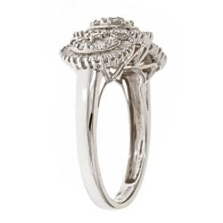 D'Yach 14k White Gold 1ct TDW White Diamond Cocktail Ring (G-H, I1-I2) - Thumbnail 1