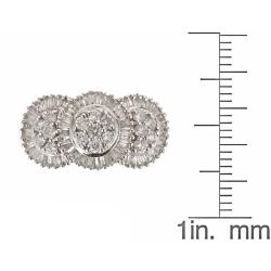D'Yach 14k White Gold 1ct TDW White Diamond Cocktail Ring (G-H, I1-I2) - Thumbnail 2