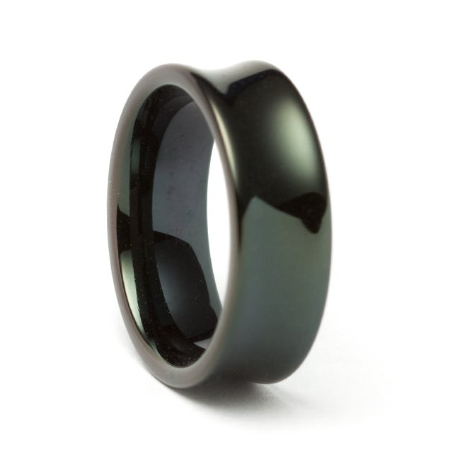 Black Tungsten Concave Band (8 mm)