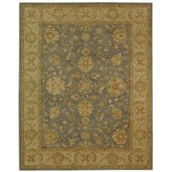 Safavieh Handmade Antiquities Jewel Grey Blue/ Beige Wool Rug (11' x 17')