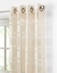 Othello Semi-Sheer Grommet 63-inch Curtain Panel Pair - Thumbnail 1