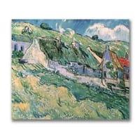 Vincent Van Gogh 'Cottages at Auvers-sur-Oise, 1890' Canvas Art