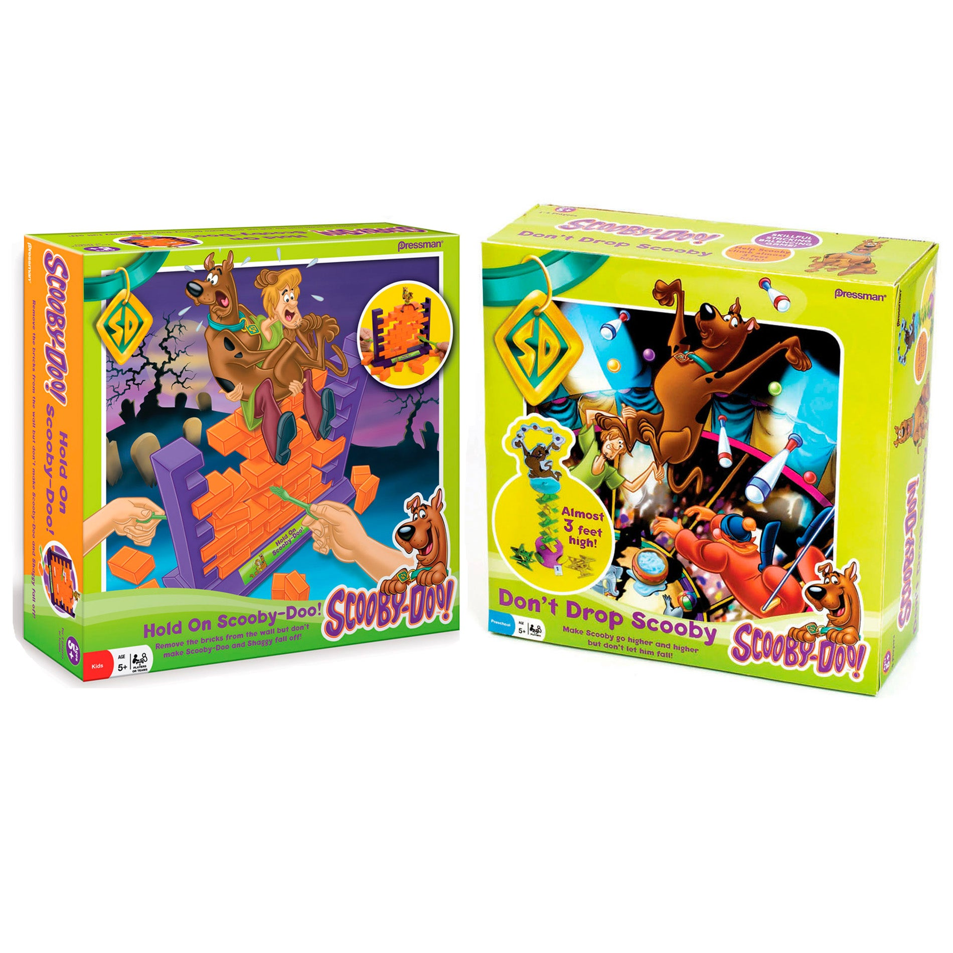 Pressman Games Hold On and Don't Drop Scooby Game Set