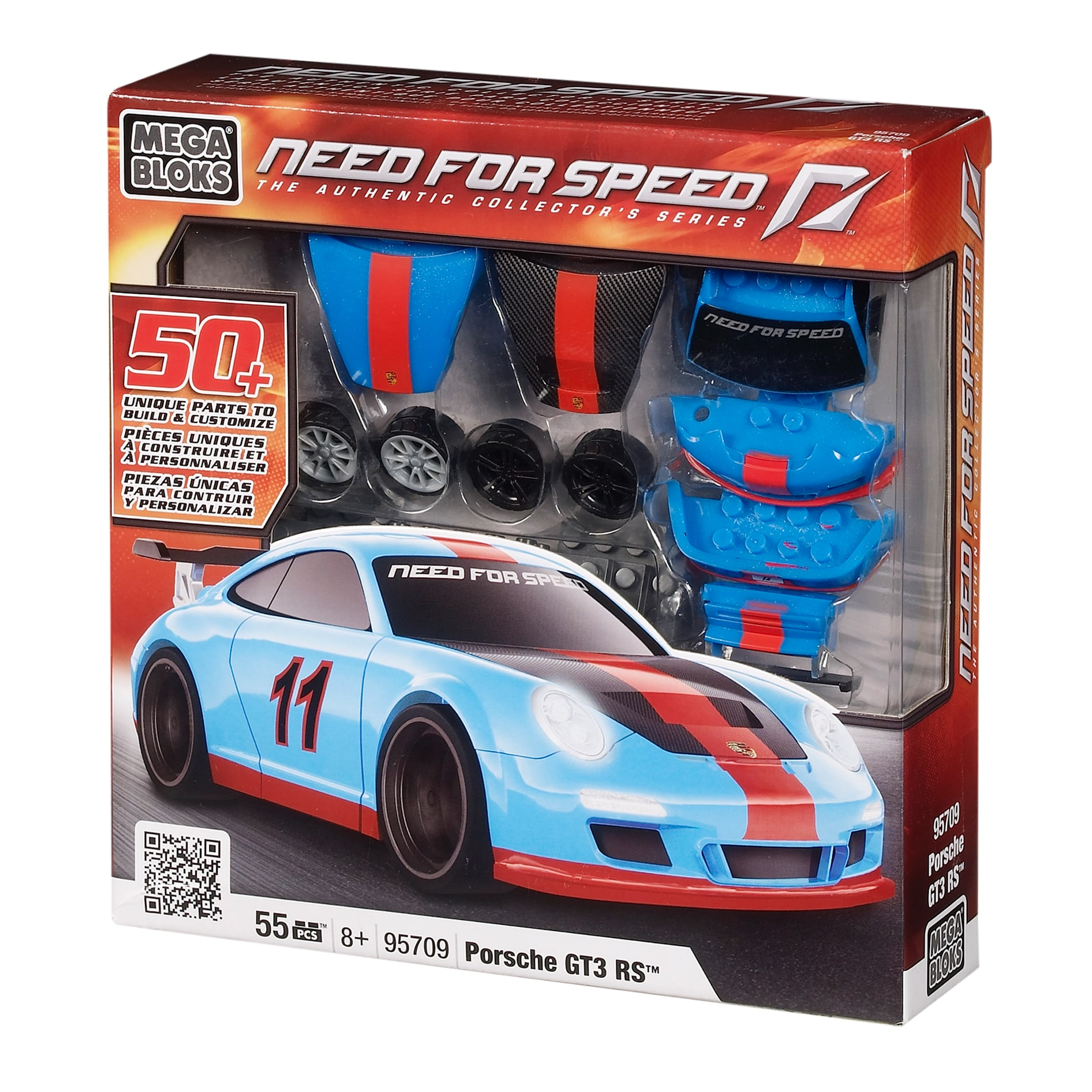 Need for Speed Porsche GT3 RS 1:38 Buildable Car