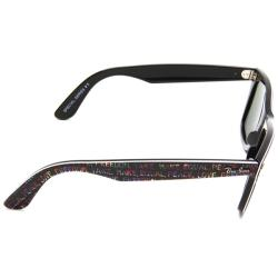 Ray-Ban 'RB 2140 1089' Black Freedom Print Wayfarer Sunglasses