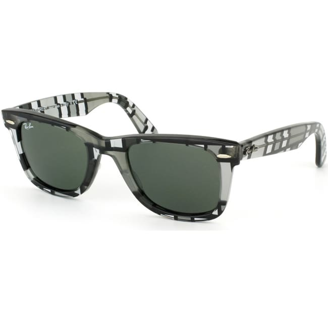 Ray-Ban 'RB 2140 1084' Grey 3D Block Wayfarer Sunglasses