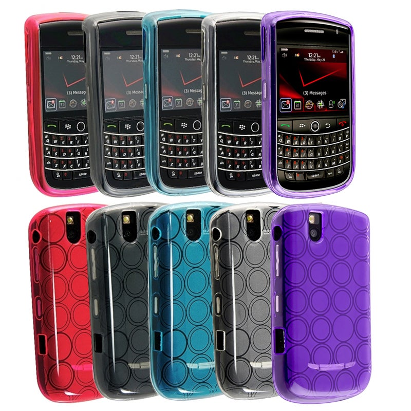 BasAcc 5-piece Colored TPU Protective Case Set for BlackBerry Bold 9650/9630