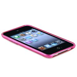 BasAcc Clear Hot Pink Circle TPU Rubber Case for Apple iPod Touch - Thumbnail 1