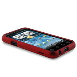 BasAcc Red Rubber Coated Case for HTC EVO 3D