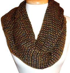 Textured Bubble Knit Infinity Scarf - Thumbnail 2
