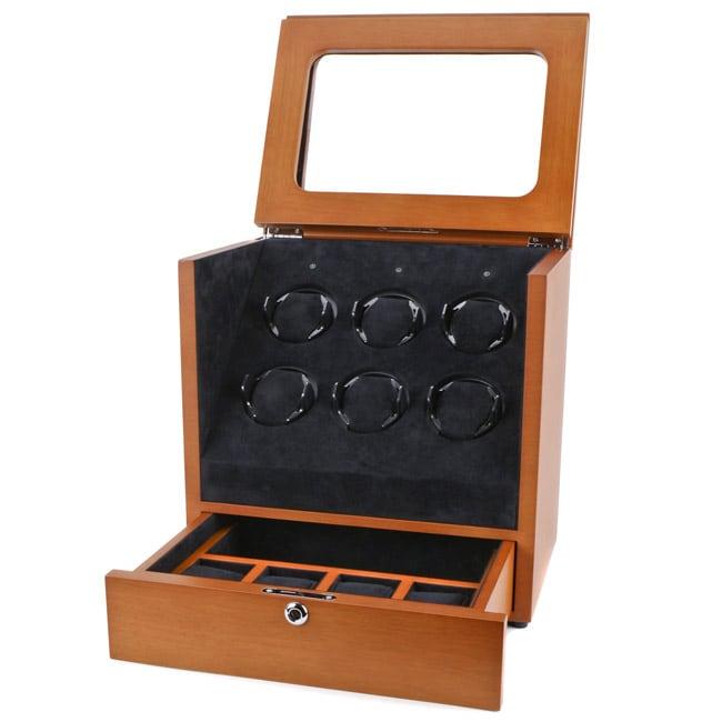 Collectors Multi-Function Brown Watch Winder