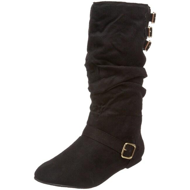 Fahrenheit Women's 'Izo-03' Faux Suede Slouch Boots