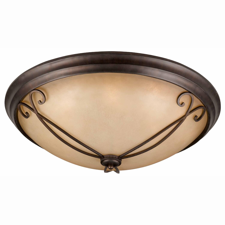 Corsica 8-light English Bronze Flush-mount Fixture