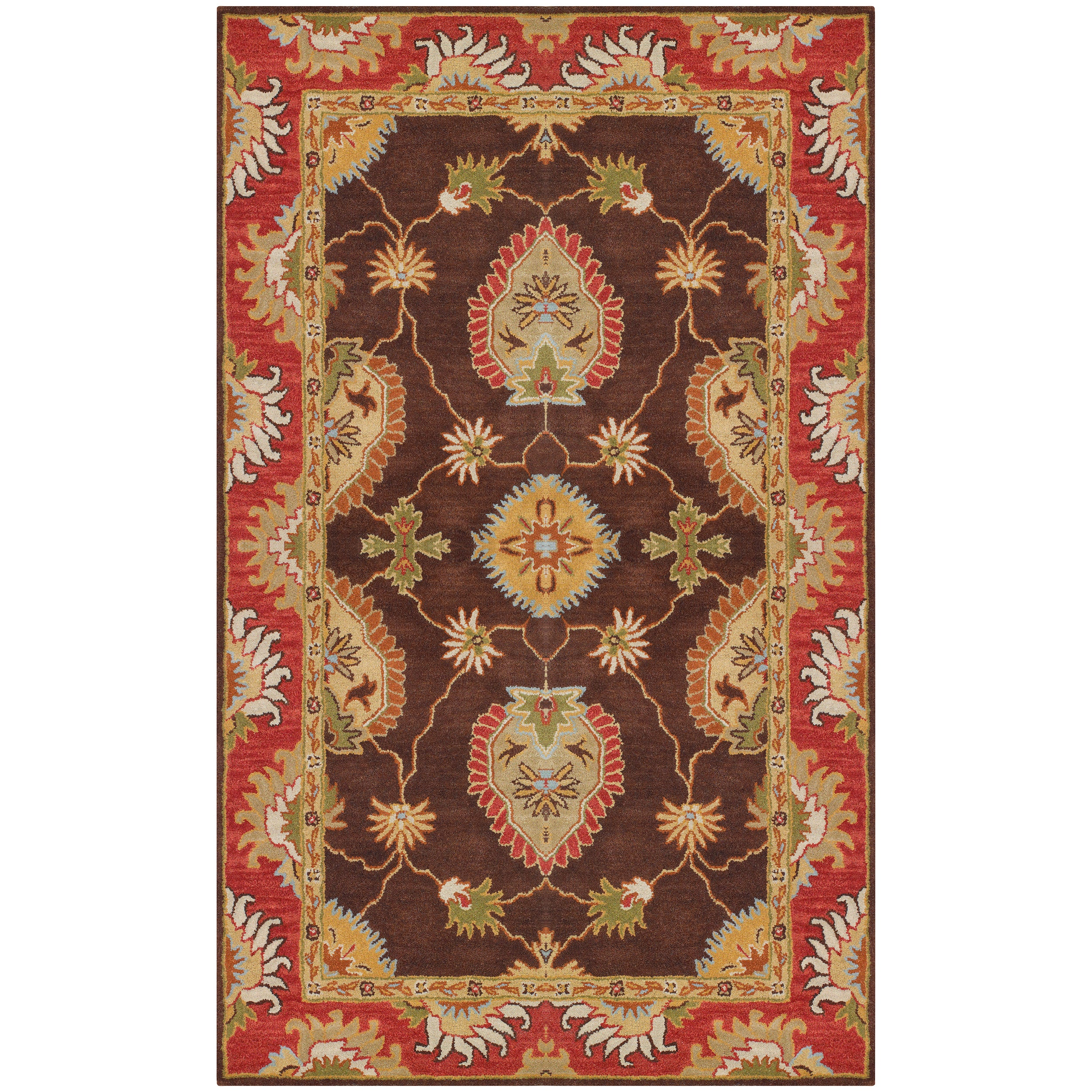Hand-tufted Brown Colfax Wool Rug (5' x 7'6)