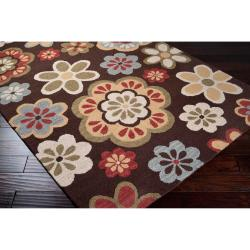 Hand-tufted Brown Carencro Wool Rug (3'3 x 5'3)