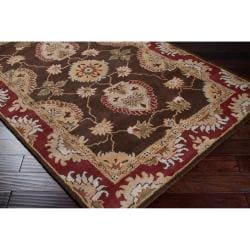 Hand-tufted Brown Colfax Wool Rug (5' x 7'6) - Thumbnail 1