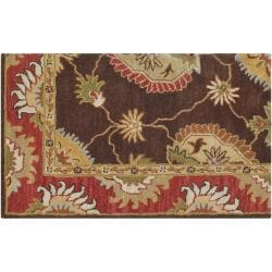 Hand-tufted Brown Colfax Wool Rug (5' x 7'6) - Thumbnail 2