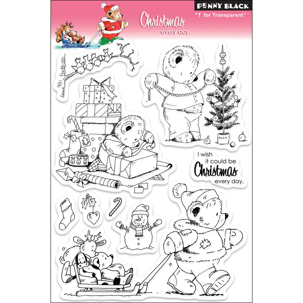 Penny Black 'Christmas Every Day' Clear Stamps Sheet