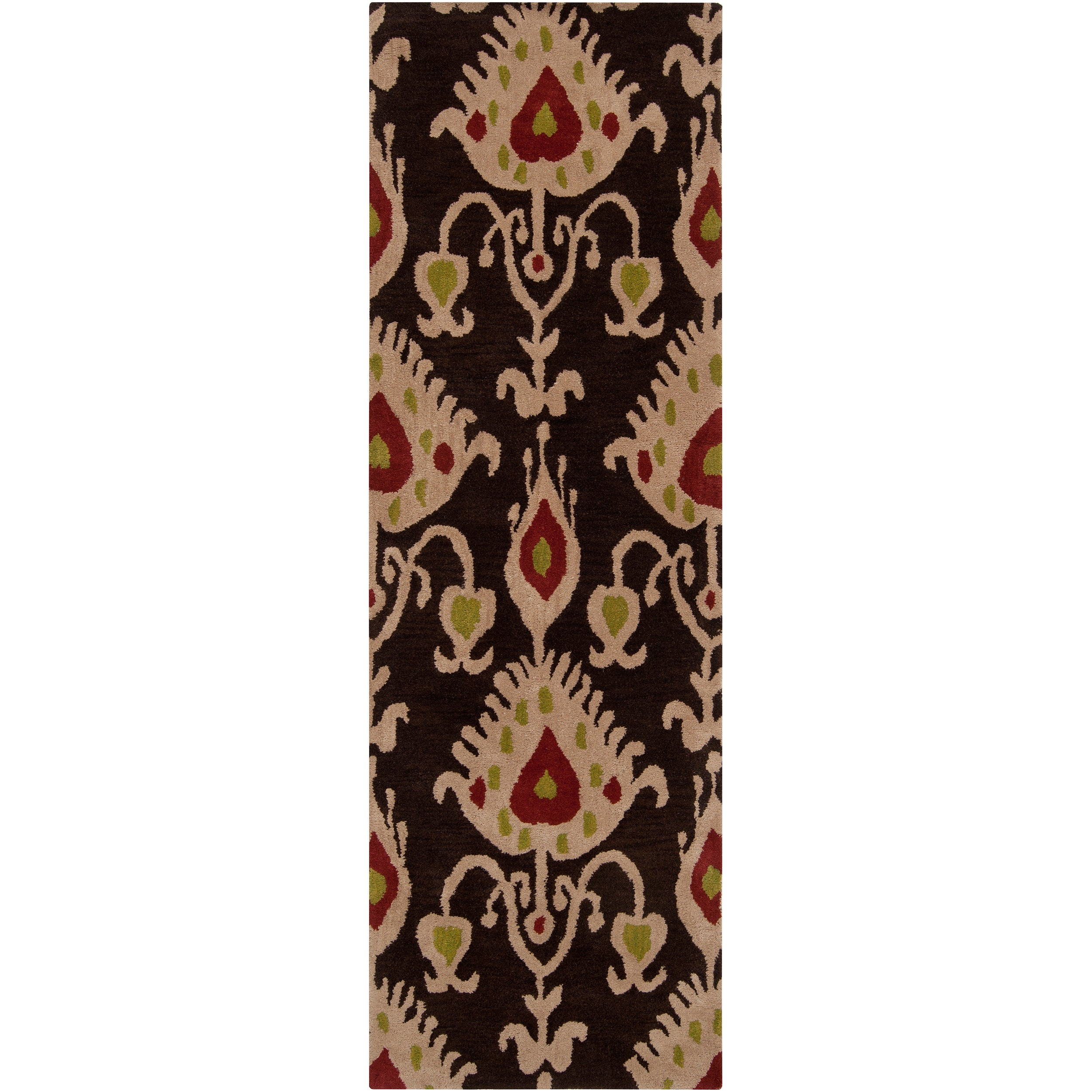 Hand-tufted Brown Mercury58 Wool Rug (2'6 x 8')