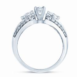 14k White Gold 3/4ct TDW Diamond Engagement Ring - Thumbnail 1