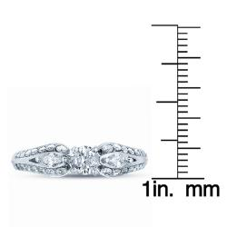 14k White Gold 3/4ct TDW Diamond Engagement Ring - Thumbnail 2