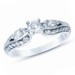 14k White Gold 3/4ct TDW Diamond Engagement Ring (I-J, SI1-SI2)