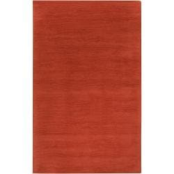 Hand-crafted Orange Solid Casual Pinega Wool Area Rug (8' x 11') - Thumbnail 0