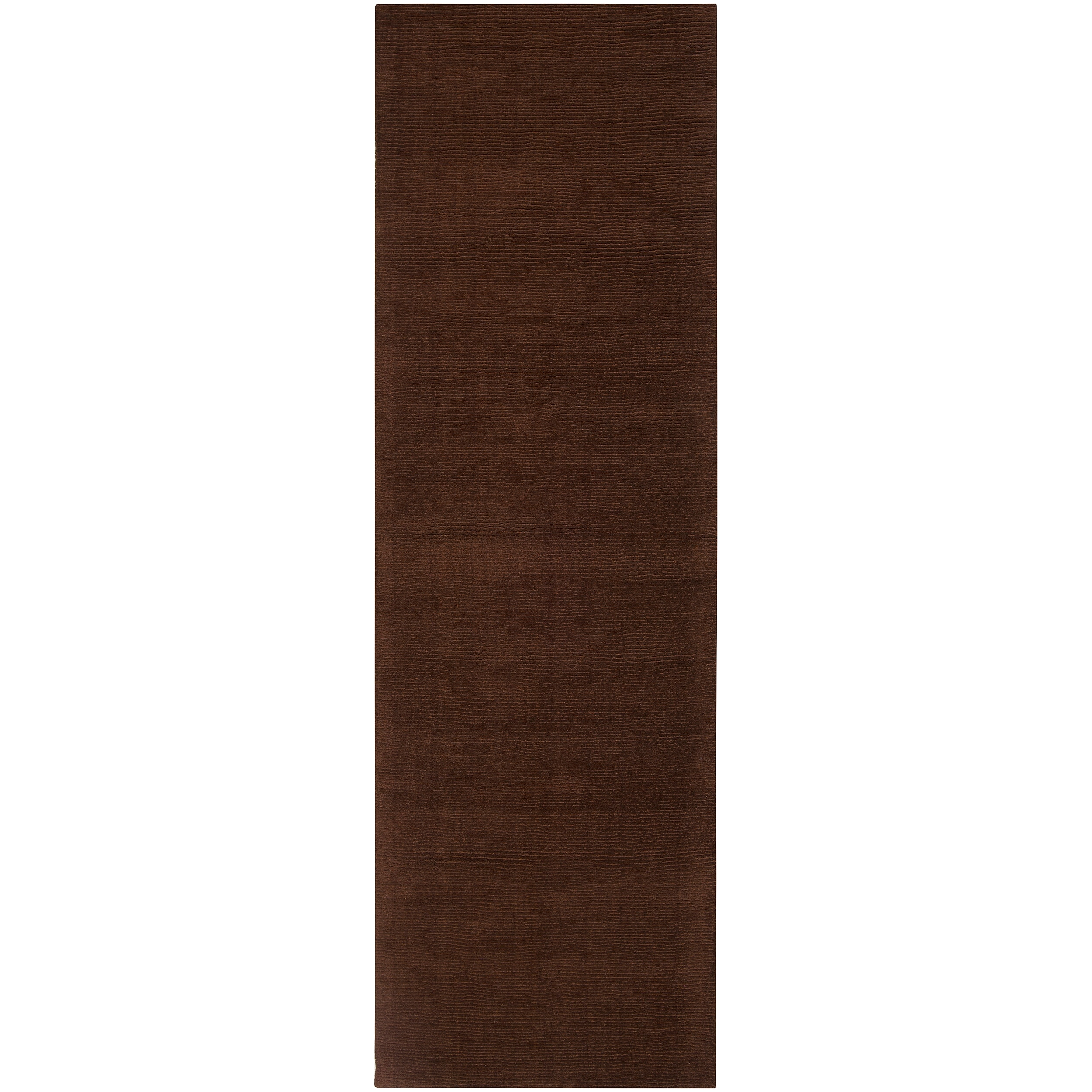 SURYA Hand-crafted Brown Solid Casual Nivia Wool Rug (2'6...