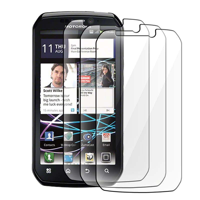 Screen Protector for Motorola MB855 Photon 4G (Pack of 3)