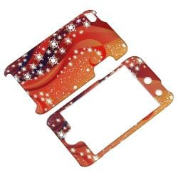 Orange/ White Snow Snap-on Rubber Case for Apple iPod Touch 4th Gen - Thumbnail 1