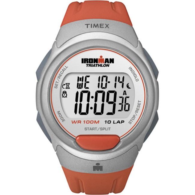 Timex T5K6119J Women's Ironman Traditional 10-lap Orange Sunset/ Silvertone Watch