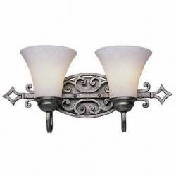 Trans Globe Lighting 2-light Antique Silver Wall Sconce with Frosted Glass