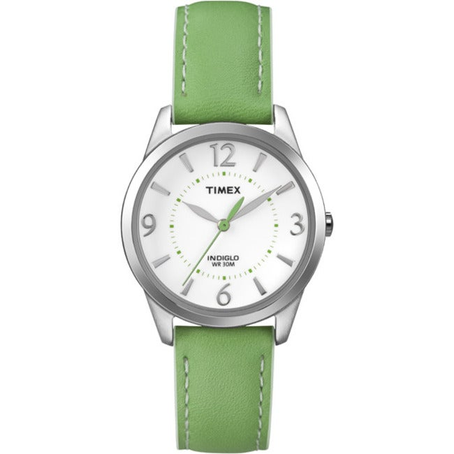 Timex T2N862KW Women's Weekender Color Leather Strap Watch