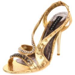 Celeste Women's 'Tao-03' Gold Stiletto Sandals