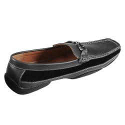 Boston Traveler Men's Topstitched Horseshoe Detail Slip-on Loafer - Thumbnail 1
