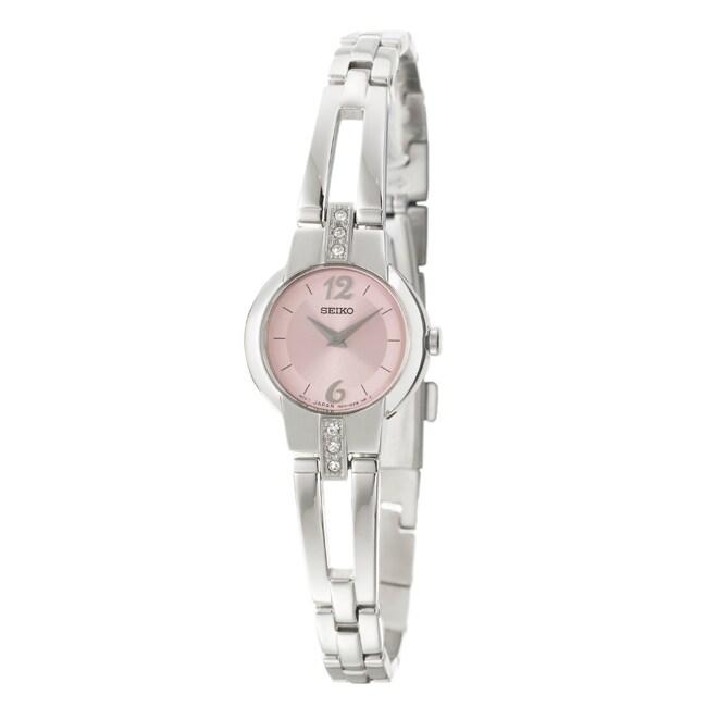 Seiko Women's Dress Pink Dial Stainless Steel Watch