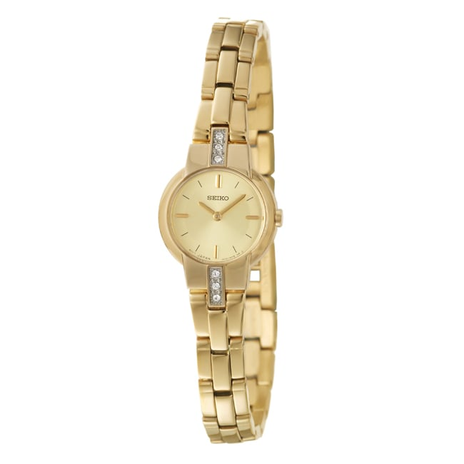 Seiko Women's Dress Stainless Steel Gold Plated Watch
