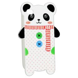 Panda Shape Cutting TPU Rubber Skin Case for Apple iPhone 4/ 4S