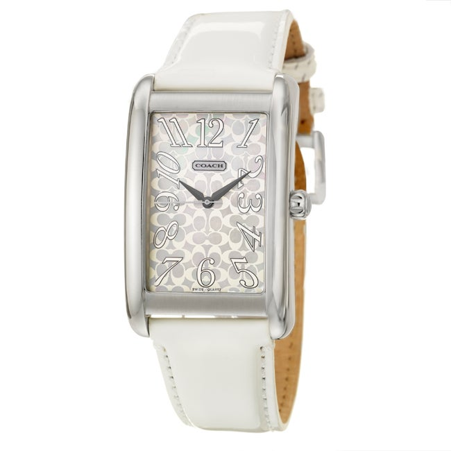 Coach Lexington Elongated Women's Mother of Pearl Dial Watch