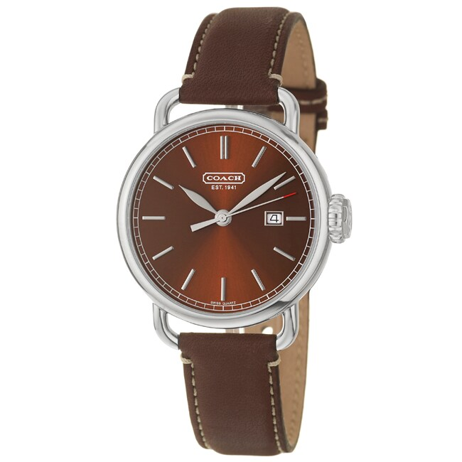 Coach Men's Classic Brown Dial Leather Watch