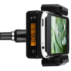 BasAcc Black All-in-one FM Transmitter with 3.5-mm Audio Cable - Thumbnail 2