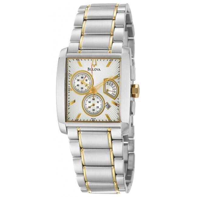 Bulova Women's Bracelet Stainless Steel/ Yellow Gold Retrograde Watch