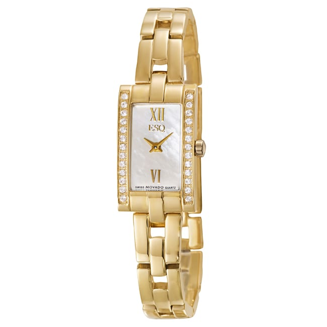 ESQ by Movado Women's Flair Stainless Steel Yellow Gold Plated Watch