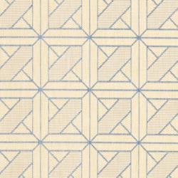 Safavieh Courtyard Poolside Natural/ Blue Indoor/ Outdoor Rug (5'3 x 7'7) - Thumbnail 2