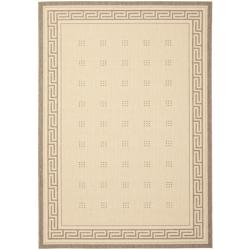 Safavieh Courtyard Easy-to-Maintain Natural/ Brown Indoor/ Outdoor Rug (5'3 x 7'7)