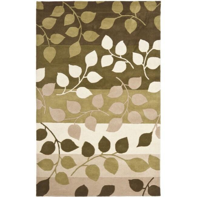 Safavieh Handmade Soho Garden Green New Zealand Wool Rug (3'6 x 5'6')